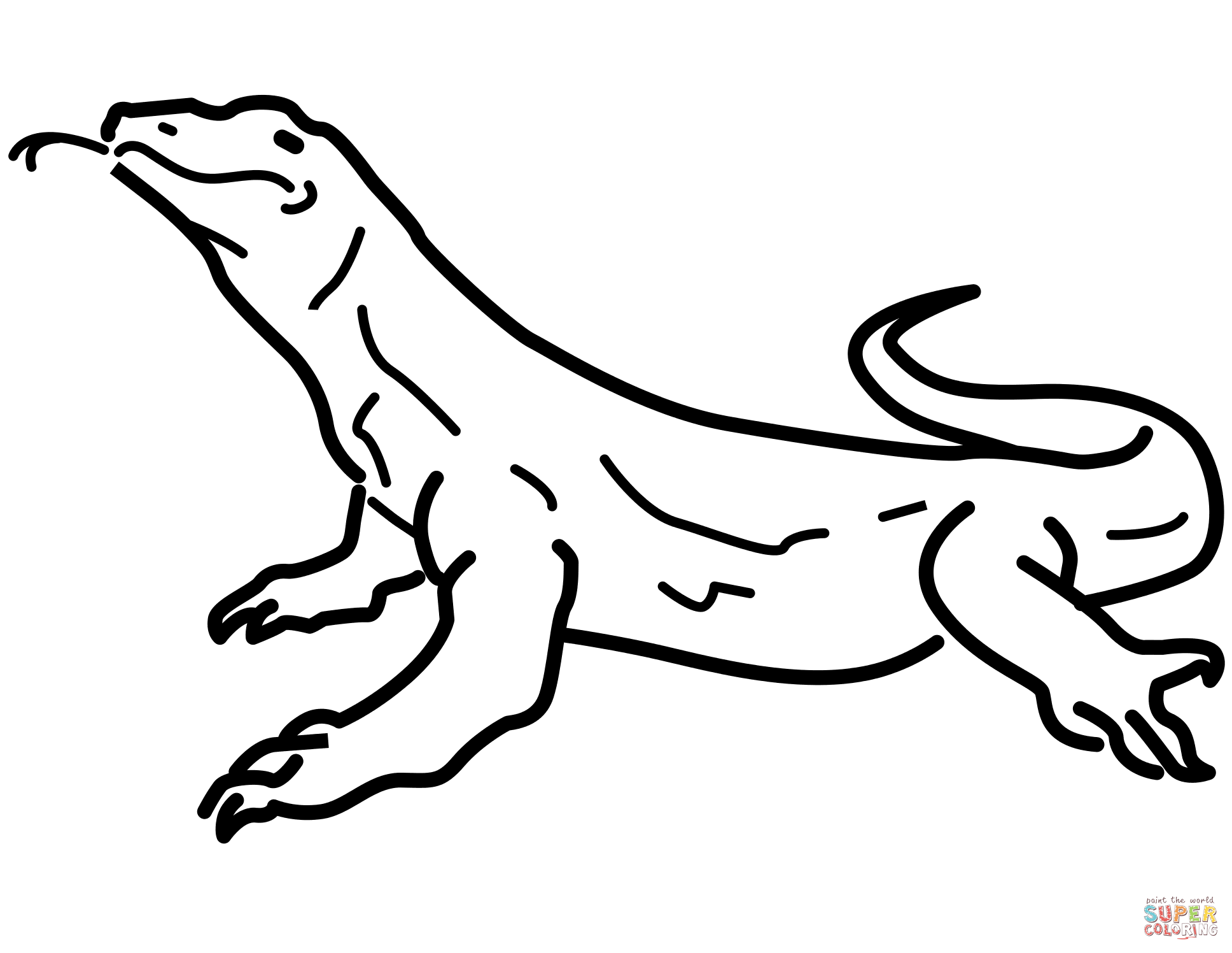 cartoon lizard coloring pages - photo#18