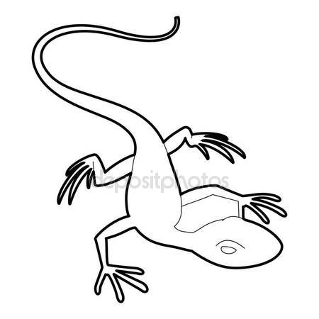 450x450 Chameleon Icon, Outline Style Stock Vector Ylivdesign