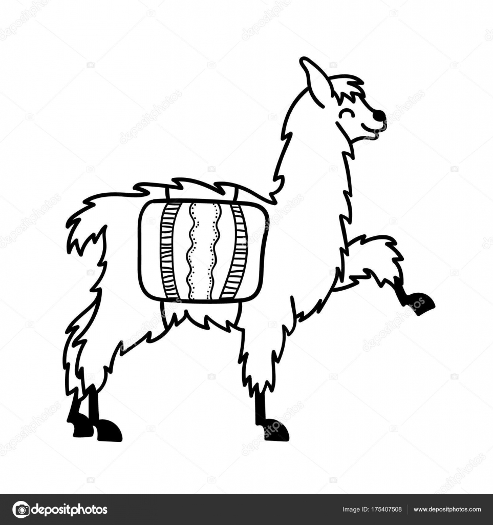 963x1024 Vector Illustration Of Cute Character South America Lama