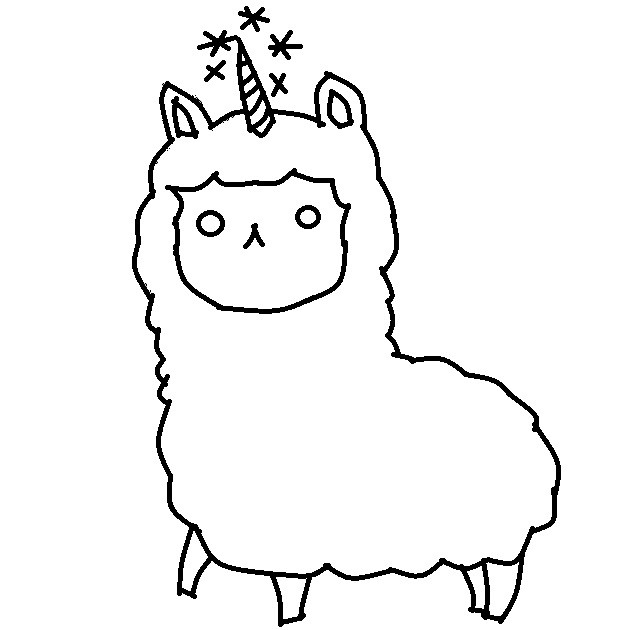 Llamacorn Drawing at GetDrawings | Free download