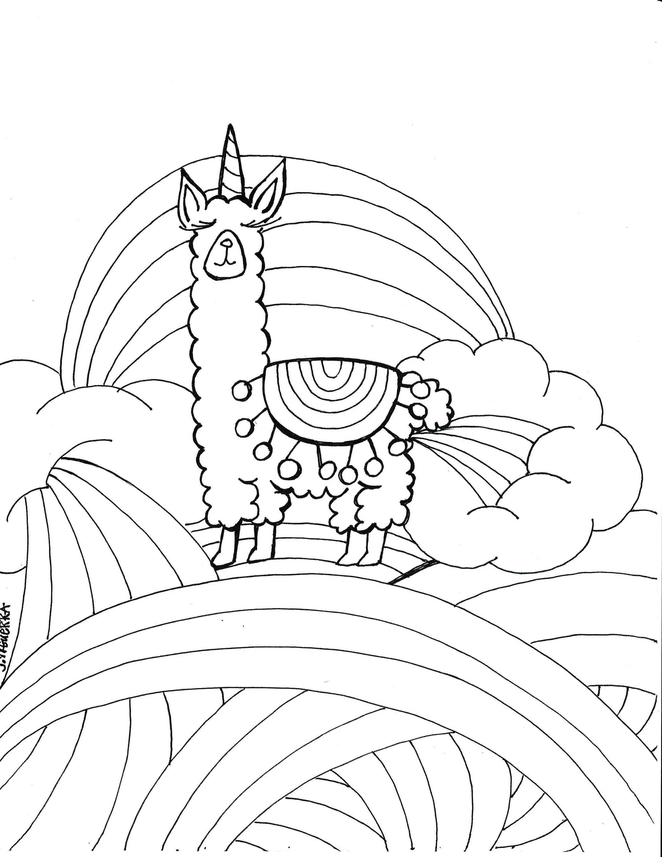 2318x3000 Llamacorn Coloring Page PDF Printable Art Pdf And