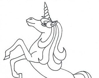 340x270 Unicorn Coloring Etsy