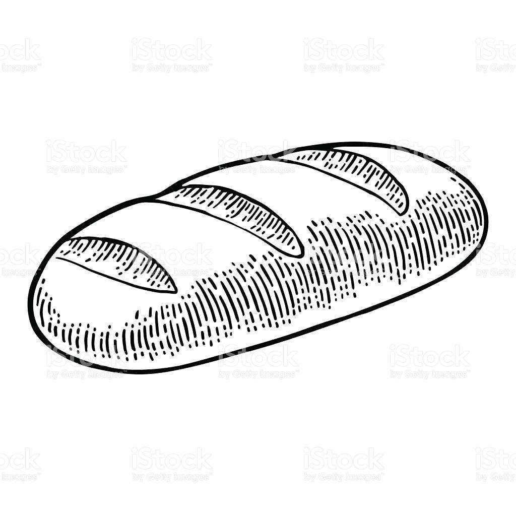 1024x1024 Drawn Bread Loaf Bread
