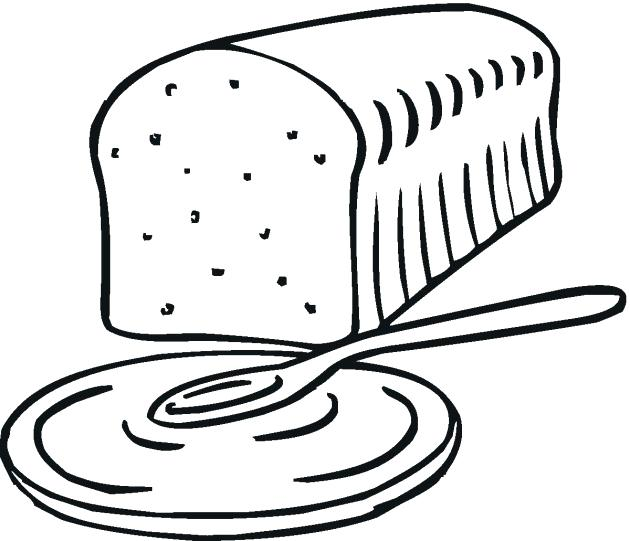 630x541 Loaf Of Bread Coloring Page 6729