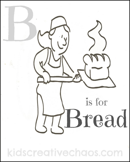 514x640 Loaf Of Bread Coloring Page Or The Letter B