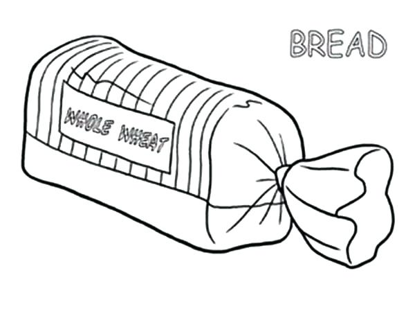 600x462 Bread Coloring Pages
