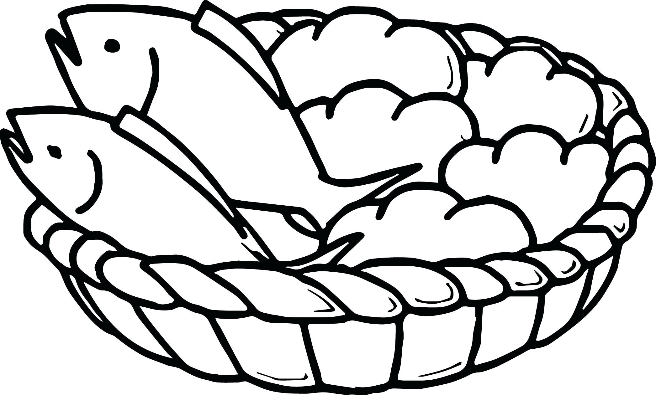 2092x1262 Coloring Bread Coloring Pages Feeds Page Free Download 5 Loaves