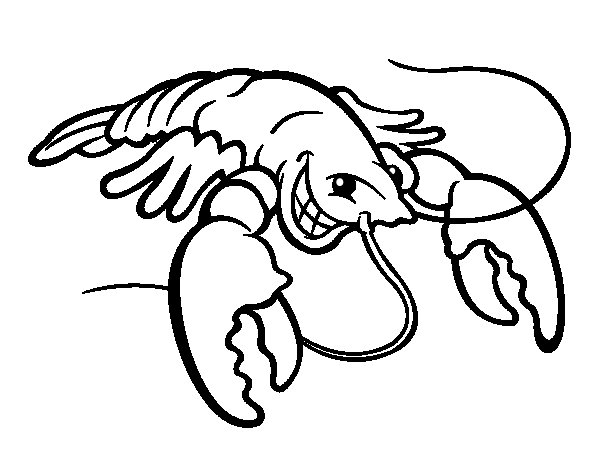600x470 Lobster Coloring Pages