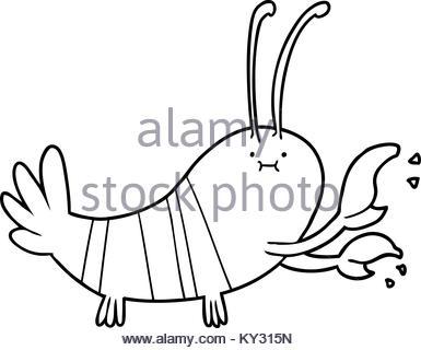 385x320 Freehand Drawn Cartoon Lobster Stock Vector Art Amp Illustration