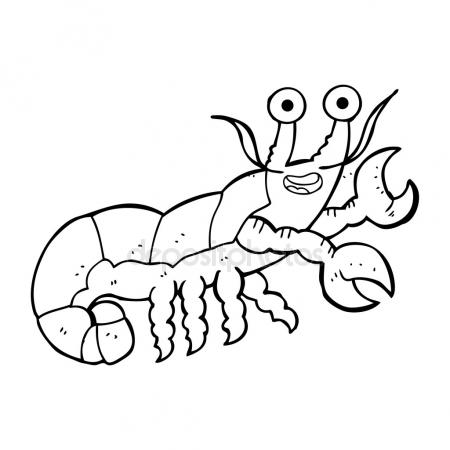 450x450 Freehand Drawn Cartoon Lobster Stock Vector Lineartestpilot