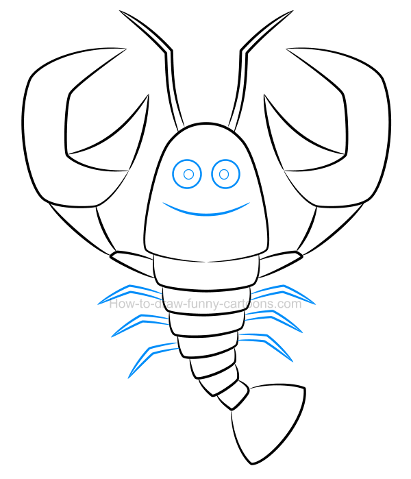 600x699 How To Create A Beautiful Lobster Drawing