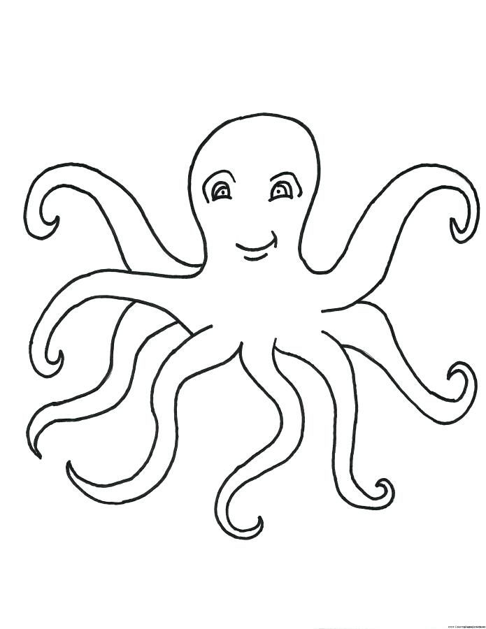 695x900 Octopus Color Page Octopus Lobster Coloring Pages For Kids