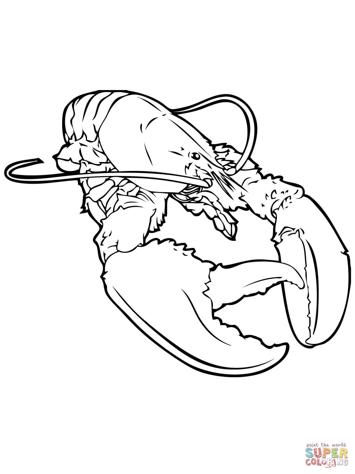 1200x1600 Realistic Lobster Coloring Page Free Printable Pages