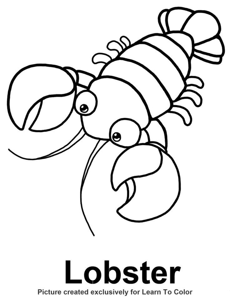 Lobster Drawing For Kids at GetDrawings.com | Free for personal use ...