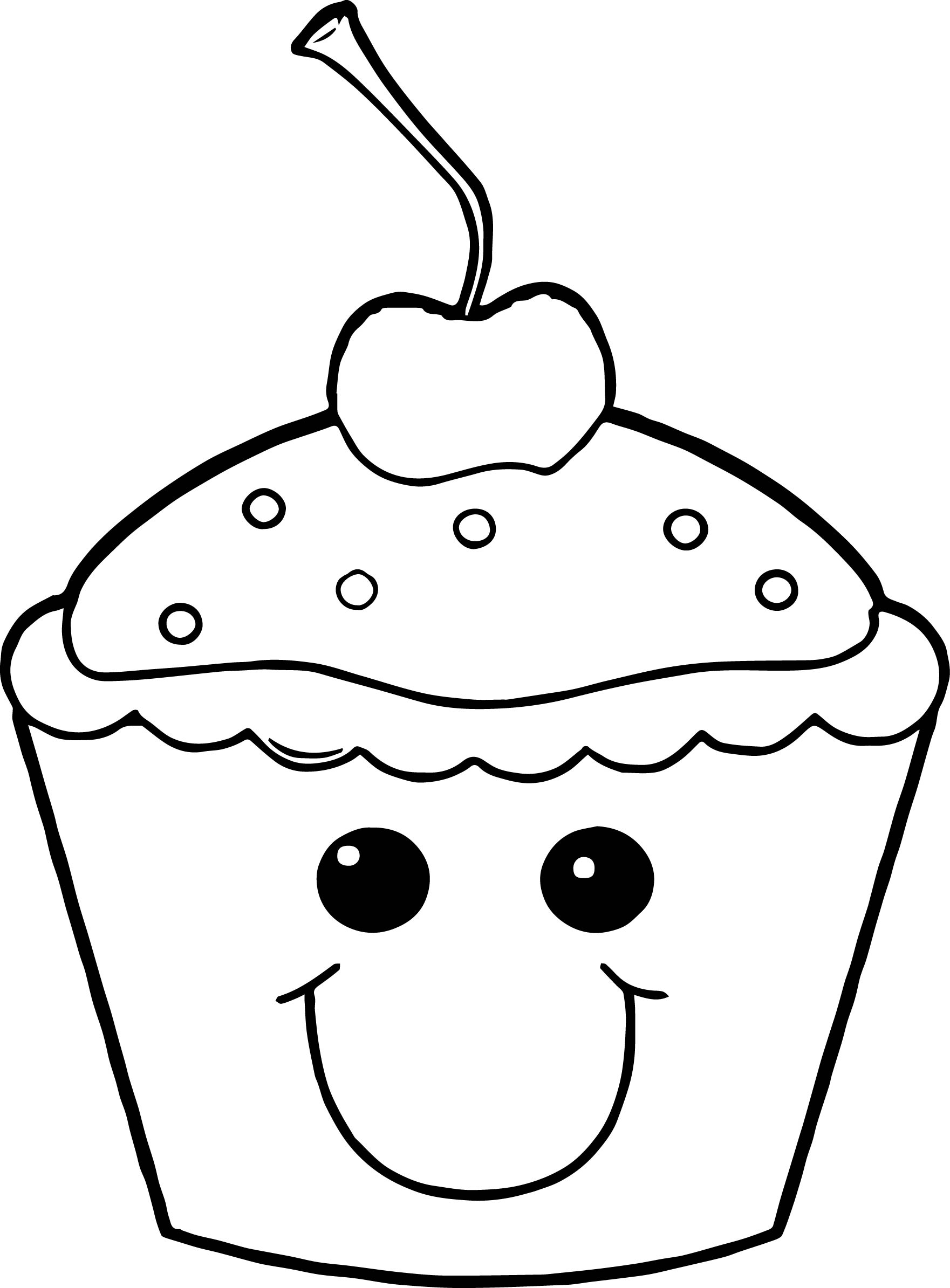 1761x2389 Cupcake Coloring Page Free Printable For Kids Pages Adults Simple