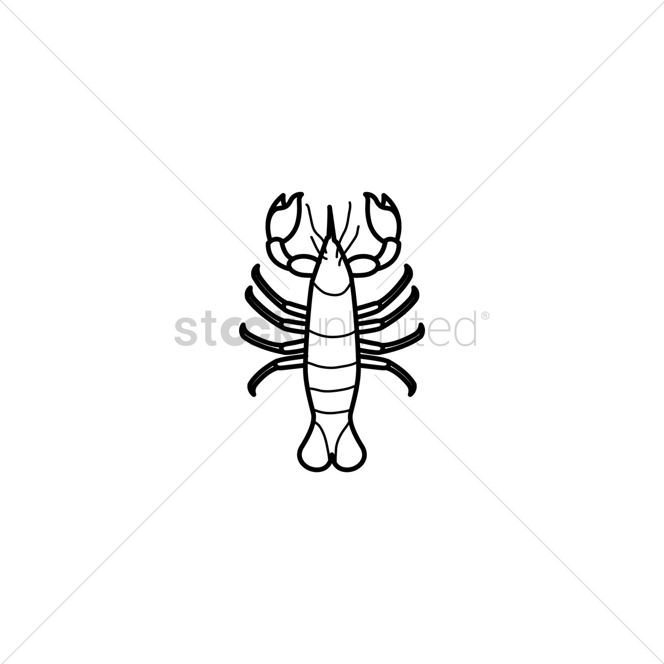 1300x1300 Lobster Vector Image