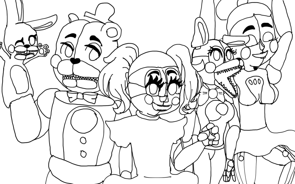 1024x640 Sister Location Animatronics By Drawingthings4you