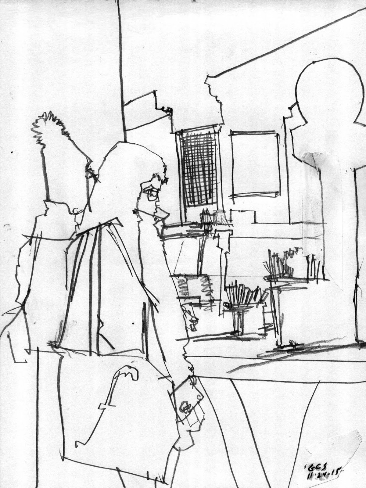 1200x1600 Drawing On Location (Before The Wombats) Grand Central Station
