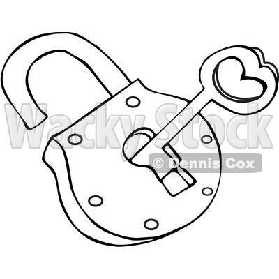 400x400 Lock And Key Clipart Black And White
