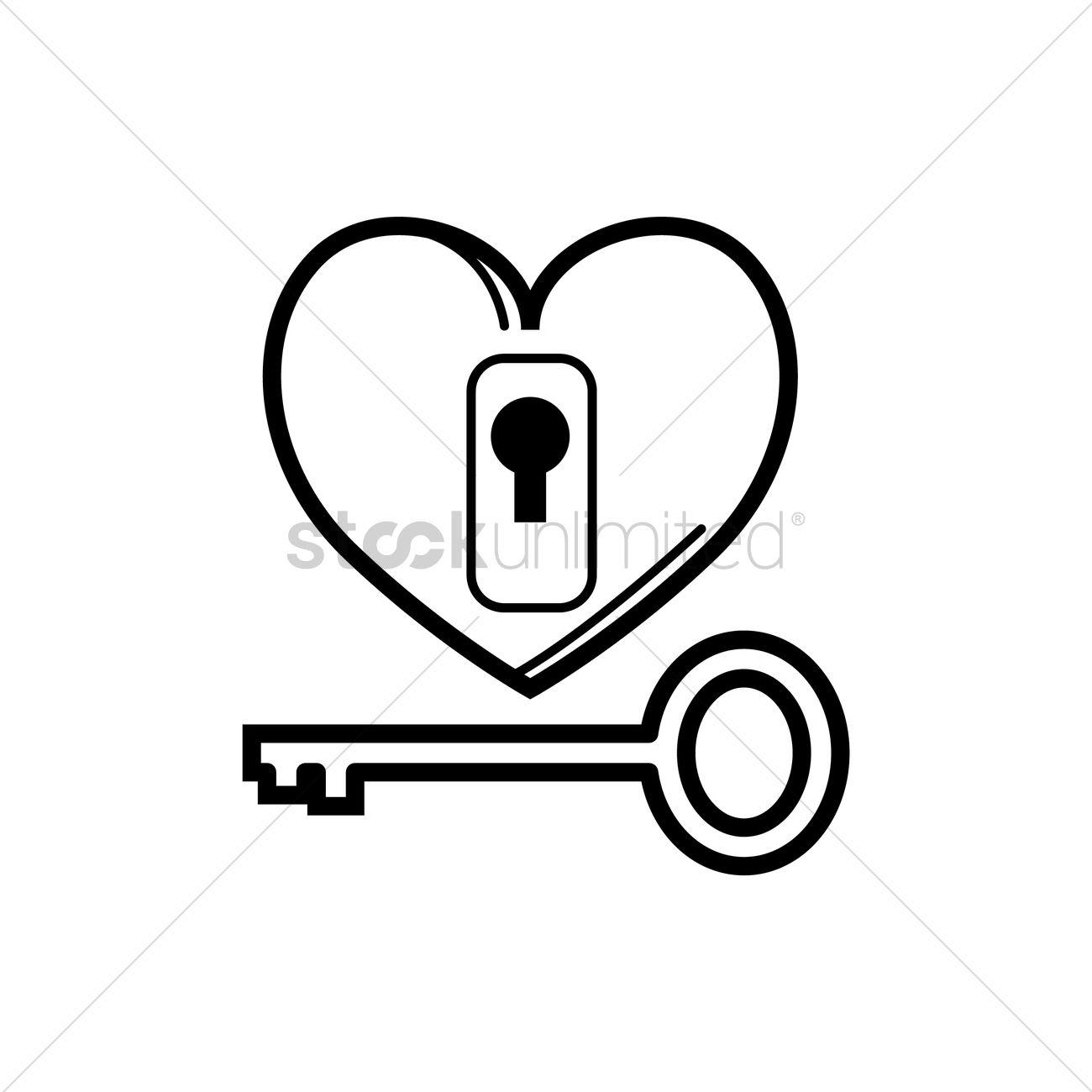 1300x1300 Love Lock And Key Vector Image