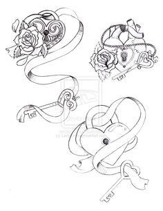 236x305 Lock Amp Key Tattoo Designs