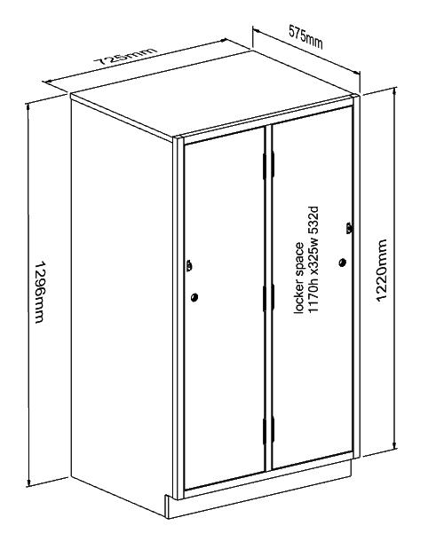 491x619 Locker 1170mm Door 1 High