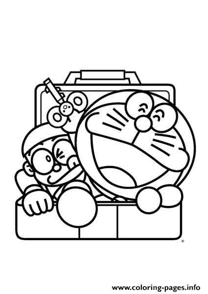 424x600 Print Nobita And Doraemon Comes Out From Locker 0643 Coloring