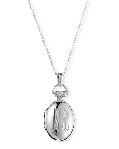 456x570 Monica Rich Kosann Petite Sterling Silver Initial R Locket