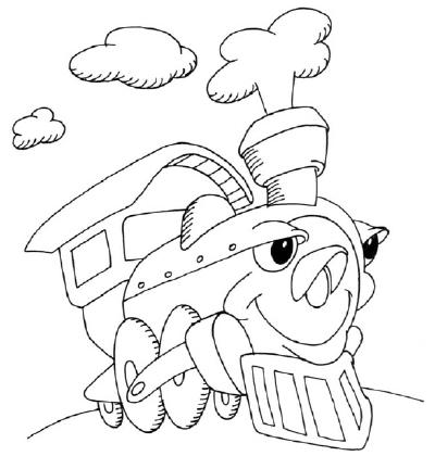 400x420 How To Draw A Cartoon Locomotive Howstuffworks