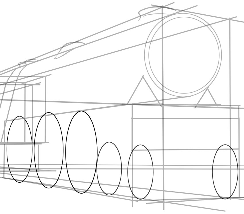 850x744 How To Draw A Classic Steam Locomotive From Scratch