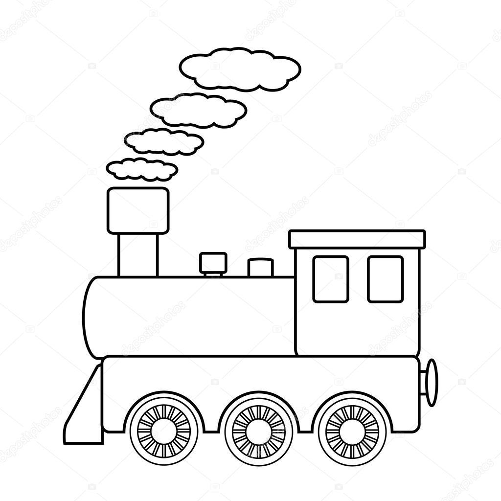 1024x1024 Locomotive Sign Stock Vector Konstsem
