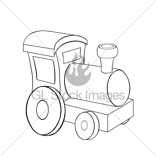 500x500 Toy Locomotive Coloring Page Gl Stock Images