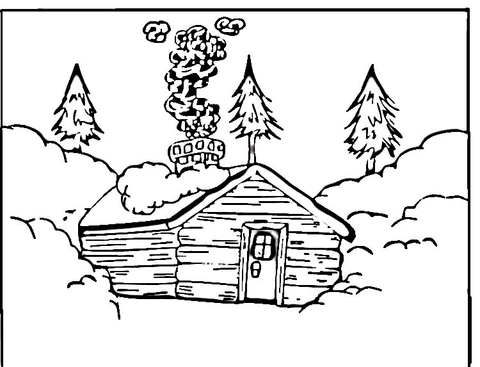 480x367 Log Cabin Coloring Page Free Printable Coloring Pages