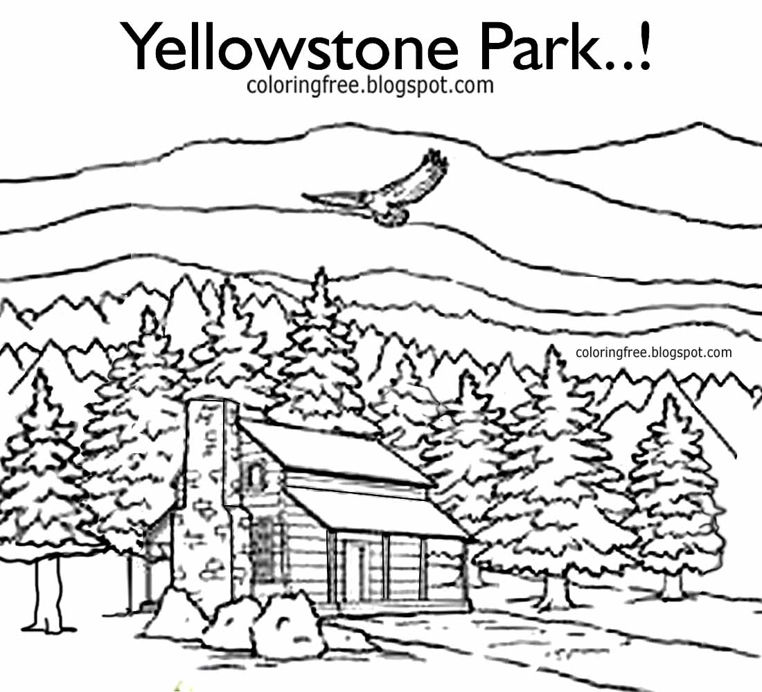 1100x1000 Coloring Picture Of Log Cabin In Mountains Log Cabin Coloring
