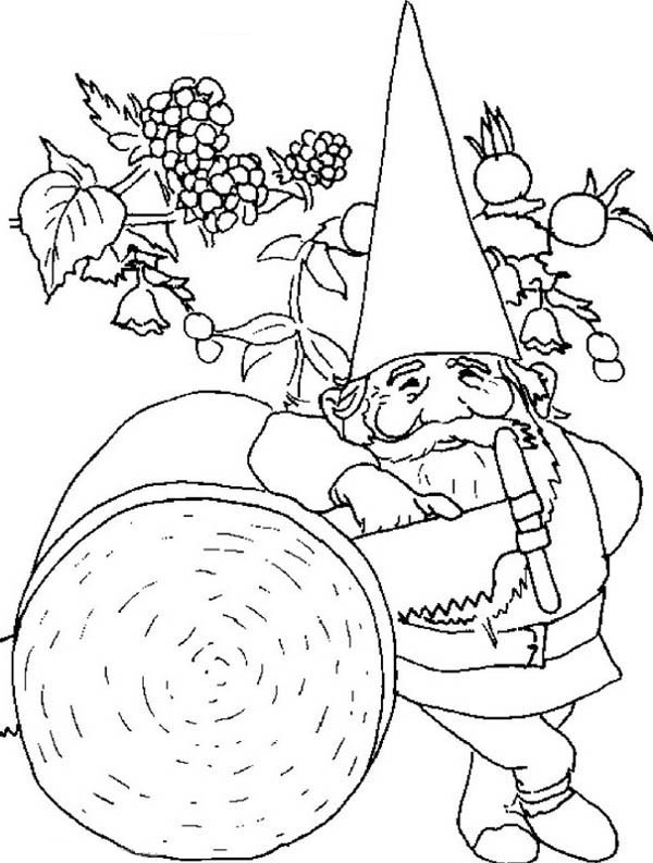 600x793 David The Gnome Rest After Saw Up A Big Log Coloring Pages Batch