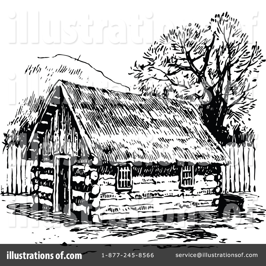 Log House Drawing At GetDrawings