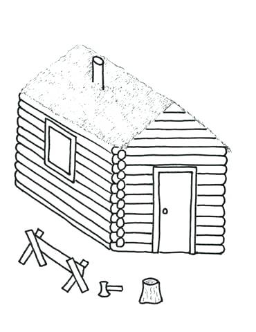370x480 Inspirational Log Cabin Coloring Page Crayola Photo Free Printable