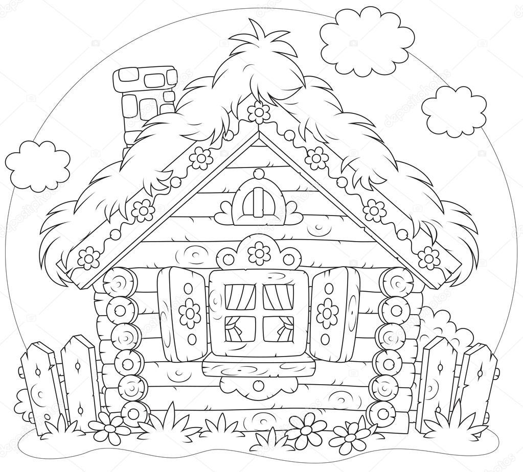 1023x924 Log Hut Stock Vector Alexbannykh