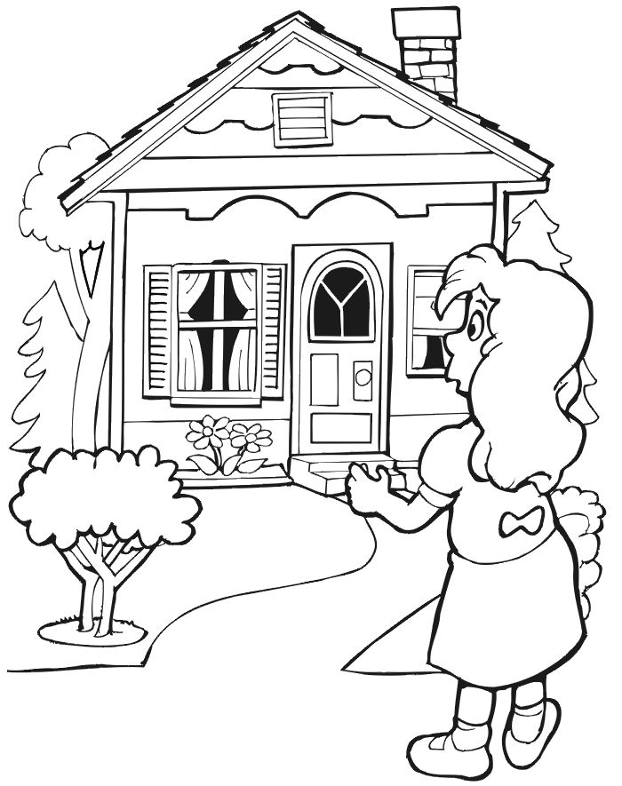 700x885 Top 93 Cabin Coloring Pages