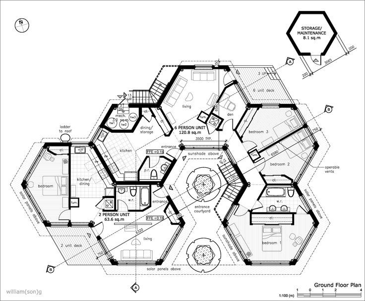 736x608 Hexagon Homes Are More Logical, Save Space When Interlocking