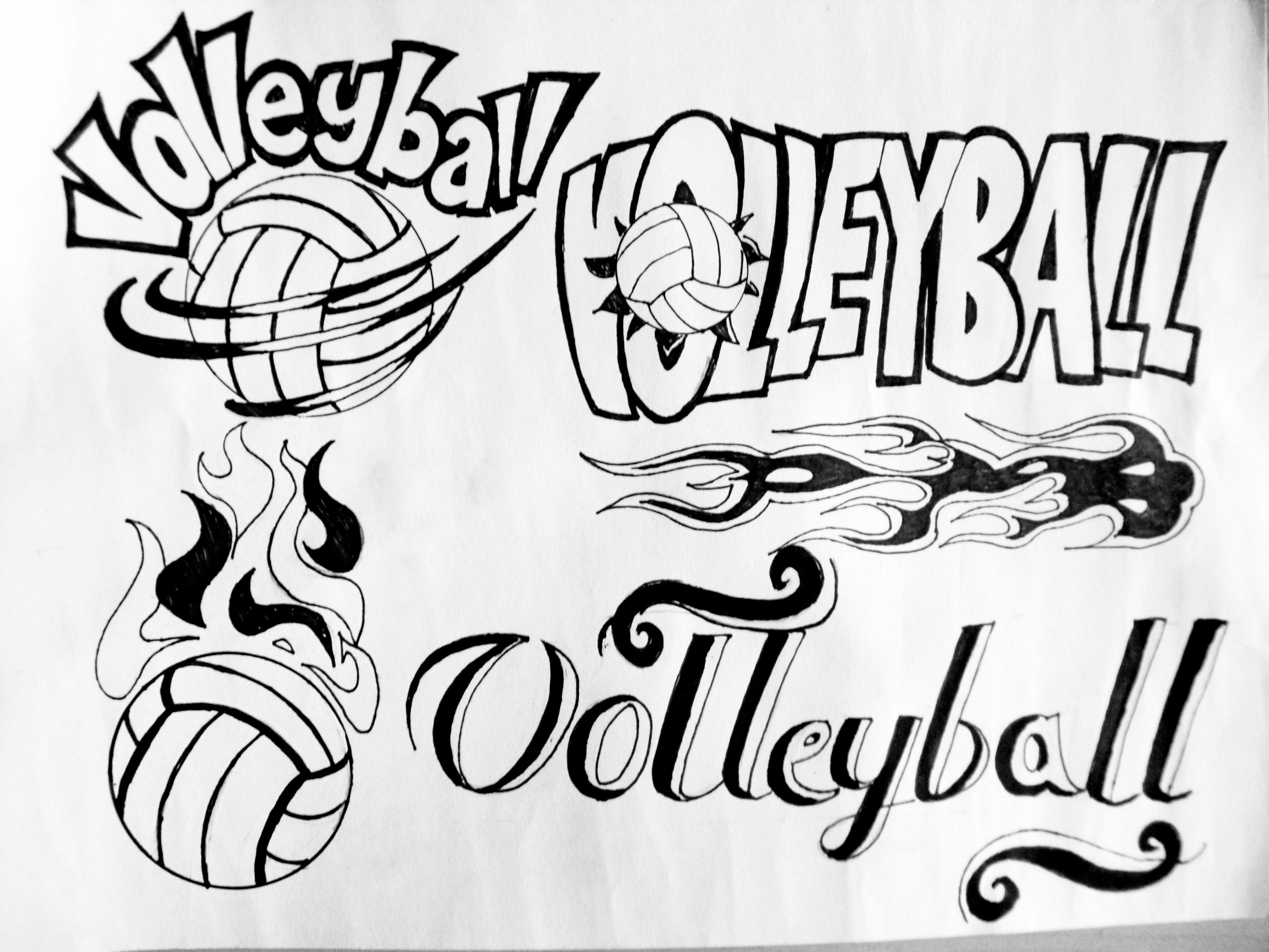 3264x2448 Artwork Volleyball Posterlogo Design Aep E Portfolio