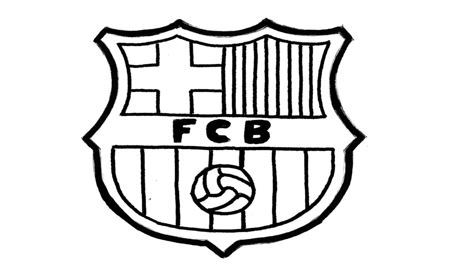 1500x886 How To Draw The Fc Barcelona Logo (Fcb)