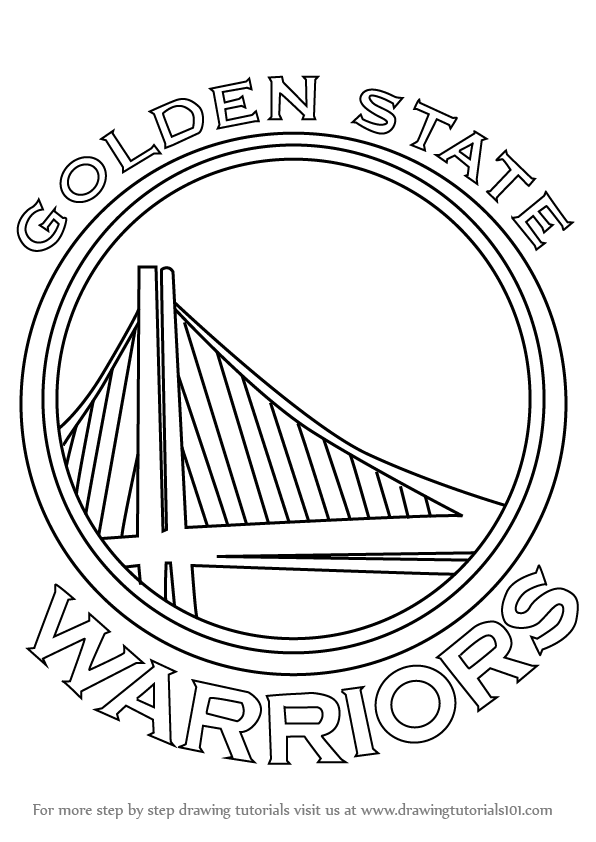 596x842 Learn How To Draw Golden State Warriors Logo (Nba) Step By Step