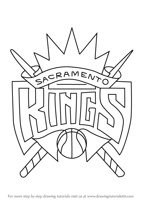 596x842 Learn How To Draw Sacramento Kings Logo (Nba) Step By Step