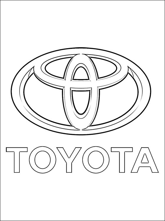 560x750 Coloring Pages Toyota