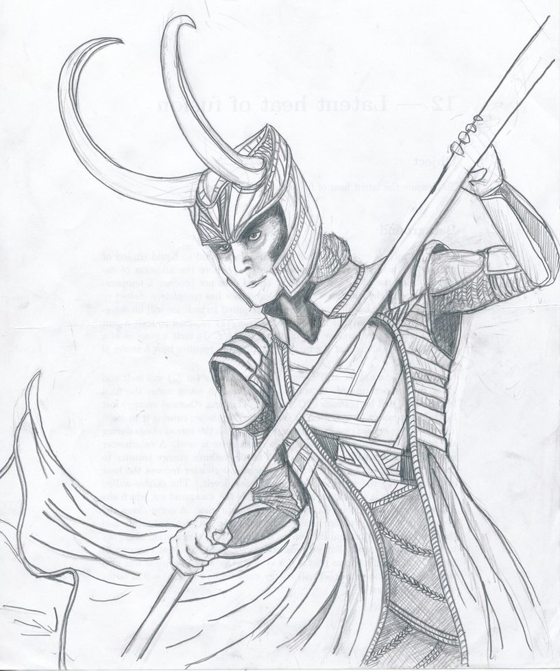 817x978 Loki, Fighting Pose By Whiplash3
