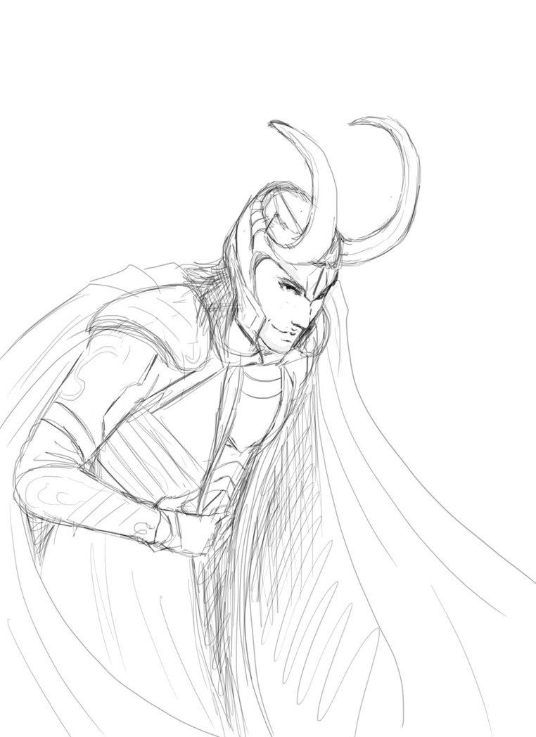 762x1048 Loki Bow Sketch By Destinyfall