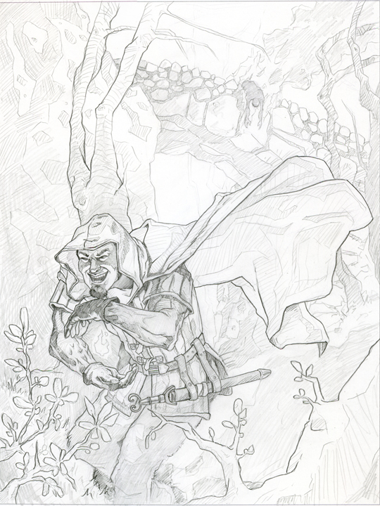 540x720 Loki The Fire Mage Sketch An Artist's Journey
