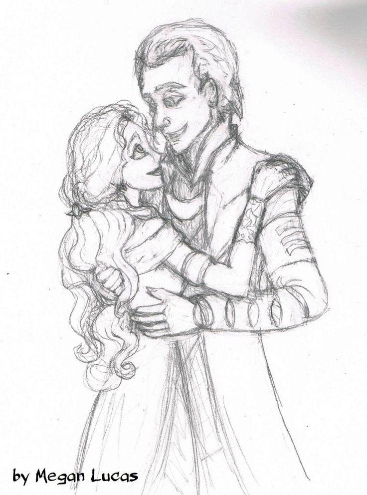 736x992 Loki X Sigyn Drawing By