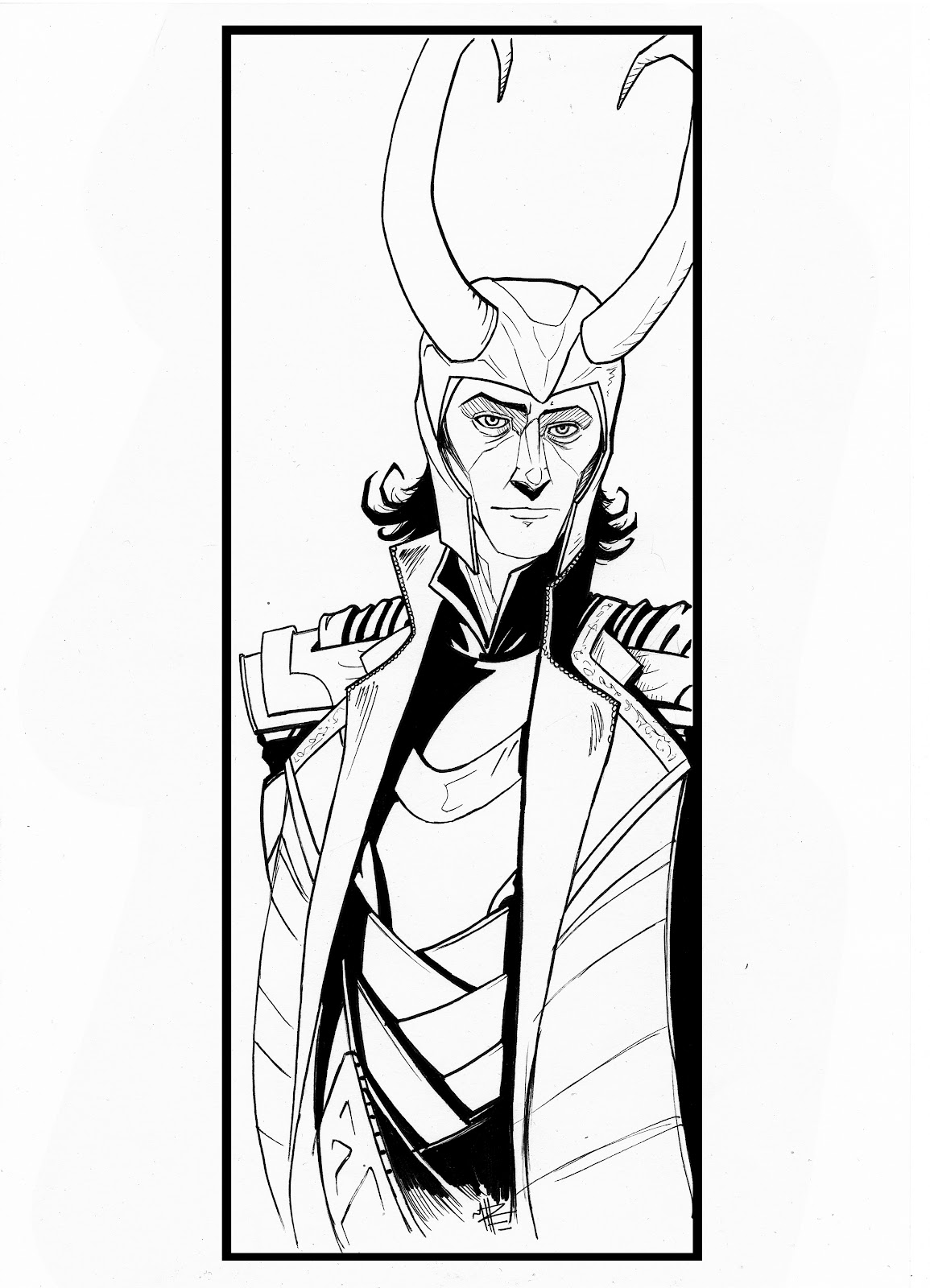 1155x1600 Matt Haworth Waste Of Paint Loki And Thor Sketch To Colour!